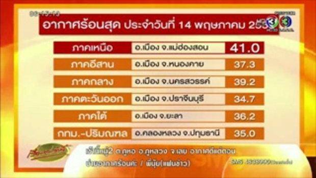 แม่ฮ่องสอน อุณหภูมิแตะ 41 องศา ร้อนสุดในไทย 14 พ.ค.(15 พ.ค.58)