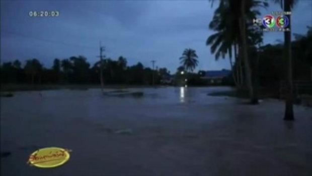 พัทลุงอ่วม ฝนตกต่อเนื่อง ทำน้ำหลากเข้าท่วมบ้านเรือน ปชช.ได้รับความเสียหาย