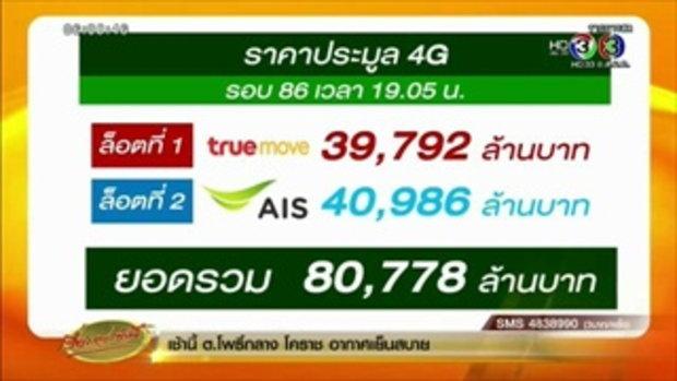 AIS - TRUE ชนะประมูล 4G คลื่น 1800 MHz รวมมูลค่า 80,778 ล้าน (13 พ.ย.58)