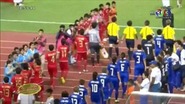 บอลหญิงไทย เฉือนชนะ เมียนมาร์ 2-1 ประเดิมศึกปรีโอลิมปิก (17 ก.ย.58)
