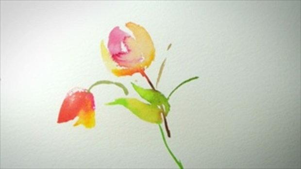 ix9 ดอกไม้สวยๆ วาดง่ายขนาดนี้เลยหรือ