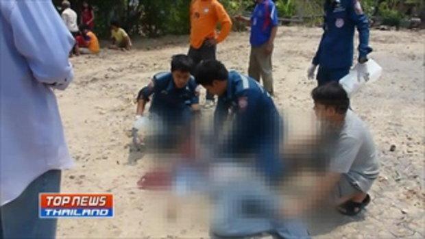 ผู้ใหญ่บ้านเลือดร้อนชักปืนยิงลูกบ้านเสียชีวิต 1 บาดเจ็บ 1 ก่อนยิงตัวตายตามหนีความผิด