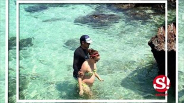 แอน อลิชา อุ้มท้อง 6 เดือน เที่ยวบำบัดบนเกาะส่วนตัว
