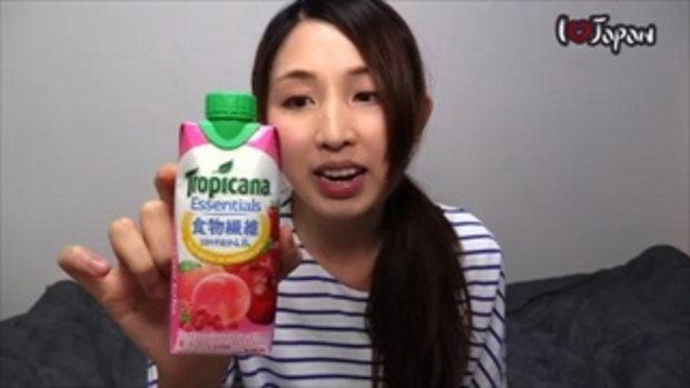 รีวิวเครื่องดื่มญี่ปุ่น EP2 น้ำผลไม้ (รสพีช, ราสเบอรี่, แอปเปิ้ล)