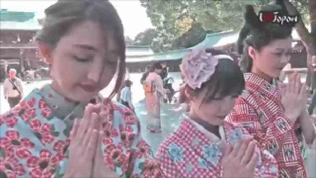 ใส่กิโมโน เดินเล่น ที่ฮาราจุกุ Wearing Kimono in Japan (Short ver.)