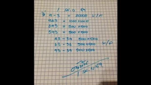 ท้าวพันศักดิ์ ชุดสรุป หวย งวดวันที่ 1 เมษายน 2559