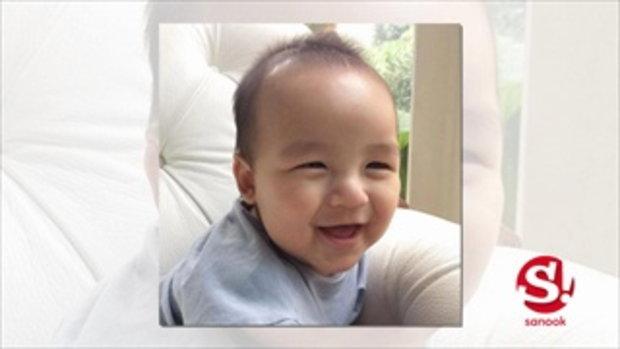 ส่องภาพน่าเอ็นดู น้องออกู๊ด วัย 6 เดือน ลูกชายเปิ้ล นาคร