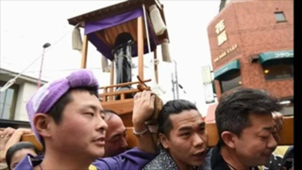 เทศกาลแห่ศิวลึงค์ยักษ์ ของชาวญี่ปุ่น มีผู้คนร่วมงานนับหมื่น