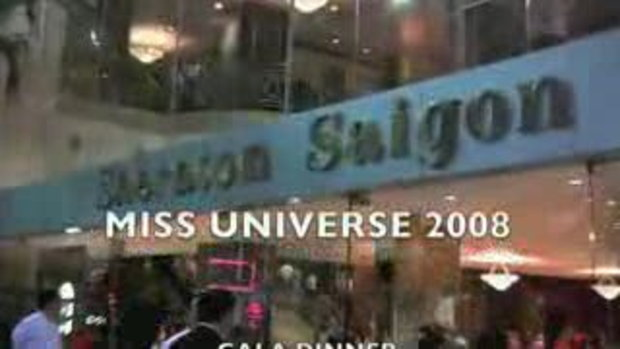 MISS UNIVERSE 2008 -GALA DINNER SHERATON SAIGON 1