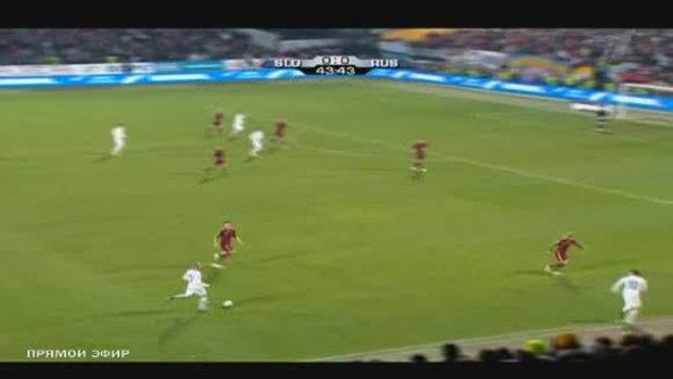 สโลวีเนีย 1 - รัสเซีย 0 หมีขาวชวดไปบอลโลก
