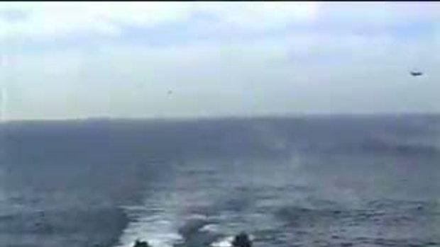 เฮลิคอปเตอร์ลงจอดพลาดตกทะเล