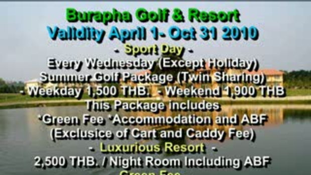 Burapha Golf & Resort Thailand - www.travelthailan