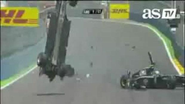 F1 มาร์ค เว็บเบอร์ ประสบอุบัติเหตุ