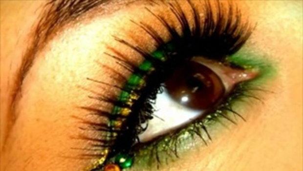 แต่งหน้าเปรี้ยวด้วยสีเขียวสดใส