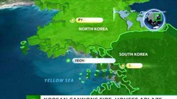 เกาหลีเหนือ ถล่ม เกาหลีใต้