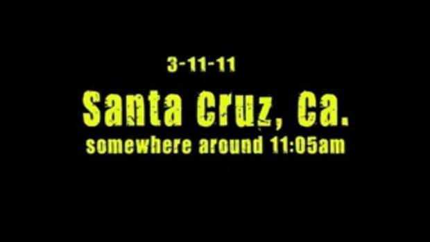สึนามิ ท่าจอดเรือซานตาครูซ แคลิฟอร์เนีย