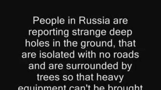 หลุมประหลาด ที่รัสเซีย