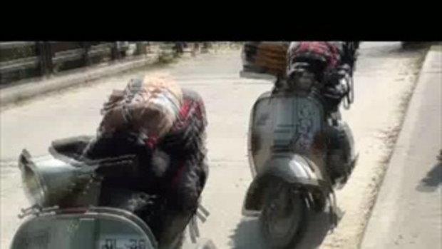 เจโอ๋เวสป้าผจญภัย-โดนตำรวจไถก่อนถึงด่านโคดาริ เนปาล