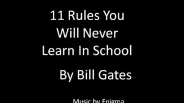 บิล เกตส์  - 11 สิ่งที่โรงเรียนไม่ได้สอนคุณ