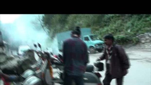 เจโอ๋เวสป้าผจญภัย-ตะลุยด่านโคดาริ สูบยางยางรั่ว เนปาล  Kodari Nepal