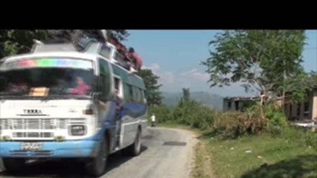 เจโอ๋เวสป้าผจญภัย-รถขนคนขึ้นเขา ด่านโคดาริ  เนปาล  Kodari