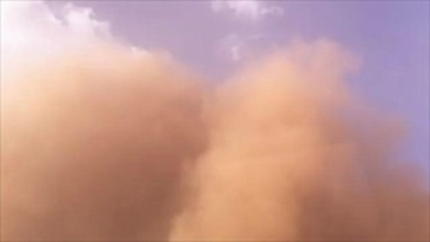 พายุทรายถล่มอเมริกา รัฐเท็กซัส