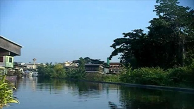 สภาพปริมาณน้ำริมฝั่งแม่น้ำเจ้าพระยาบริเวณปากคลองบางเขนเก่าเช้าวันที่27ตุลา