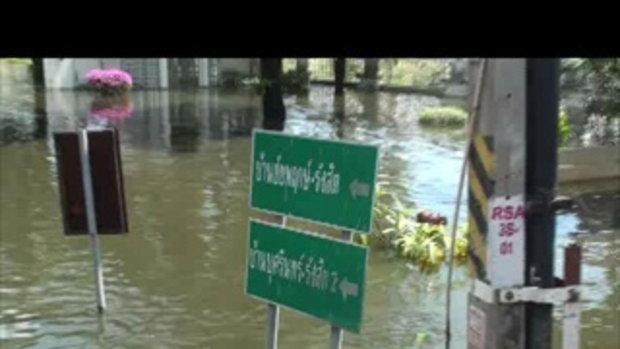 26ตค54-6น้ำท่วมปทุมธานี ลำลูกกา บ้านชัยพฤกษ์รังสิต บุศรินทร์ 26ตค54 20