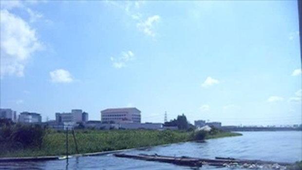 สภาพปริมาณน้ำริมฝั่งแม่น้ำเจ้าพระยาบริเวณปากคลองบางเขนเก่าเช้าวันที่29ตุลา