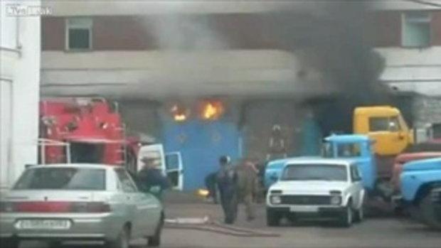 ระเบิดตูม! นักดับเพลิงพบกับการระเบิดอย่างไม่คาดฝัน