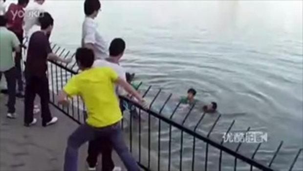 เพื่อนจมน้ำหายต่อหน้า คลิปที่ฮือฮามากในจีน