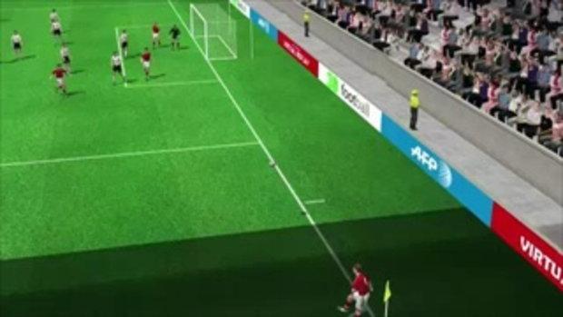 คลิปไฮไลท์ยูโร2012 3D เดนมาร์ก ตีเสมอ เยอรมัน 1-1