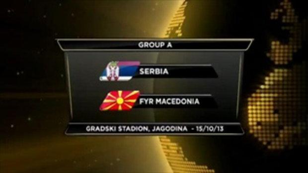 ไฮไลต์ฟุตบอล เซอร์เบีย 5-1 มาเซโดเนีย
