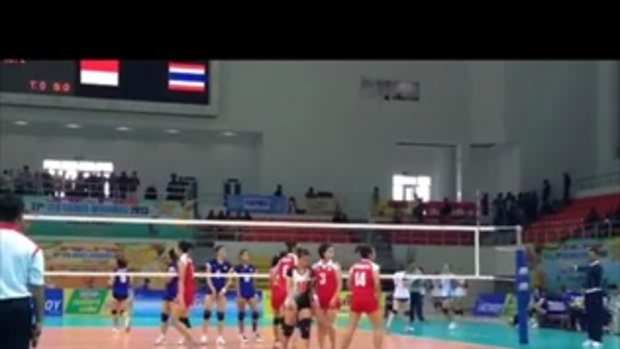 ไฮไลท์วอลเลย์บอลหญิงซีเกมส์ ไทย ชนะ อินโดนีเซีย 3-0 เซต (25-17_ 25-19_ 25-20)