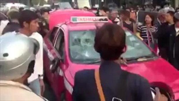 แท็กซี่ต่อว่าปาของ..โดนซ้อมปางตาย!