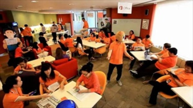 Microsoft ประเทศไทยเต้น Harlem Shake ฉลองเปิดตัว The new Office รองรับภาษาไทย