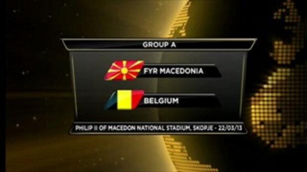 มาซิโดเนีย 0-2 เบลเยียม (บอลโลกรอบคัดเลือก)