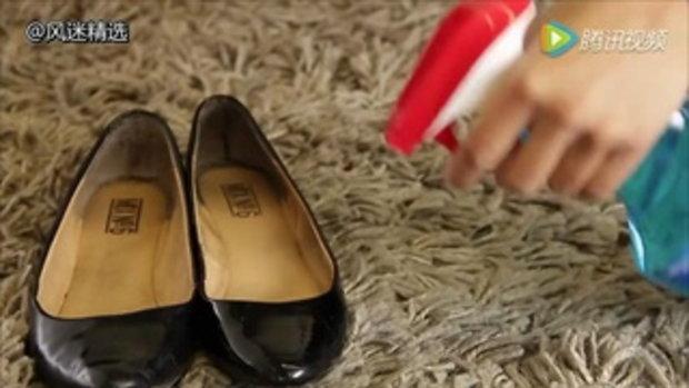 ทำความสะอาดรองเท้า ซ่อมเสื้อผ้า โดยใช้สุดยอดผลิตภัณฑ์ที่มีในบ้าน