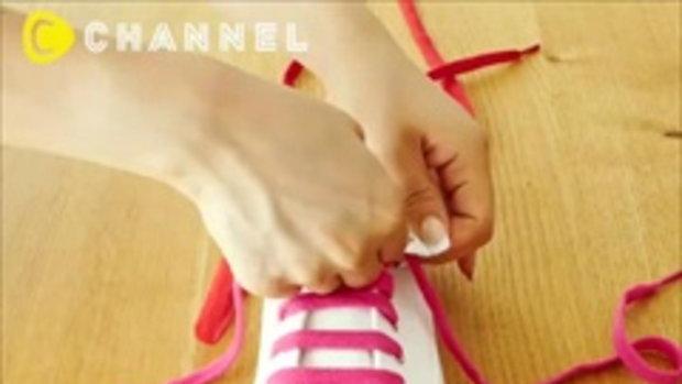 How to tie in shoe lace เปลี่ยนสไตล์ให้รองเท้าผ้าใบสีขาวธรรมดา ด้วยการสานเชือกรองเท้า 3 แบบ ลองหัดทำ