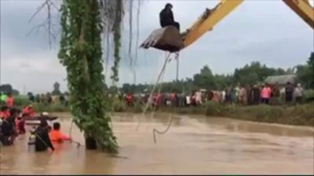 ชายขับปิกอัพกาญจนบุรี ถูกน้ำป่าพัดสูญดับ