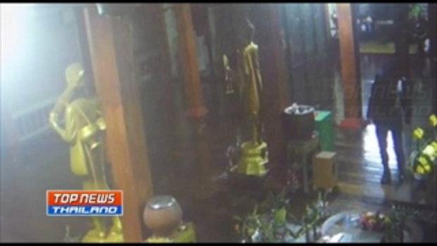 คนร้ายแต่งกายคล้าย รปภ.งัดตู้บริจาค วัดลาดหลุมแก้ว ได้เงินสดไม่ต่ำกว่า 30,000 บาท