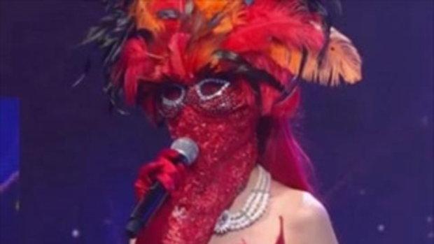 สาวหน้ากากแดงออกเวที ร้องเพลงโคตรดี แต่ตอบคำถามไม่รู้เรื่อง