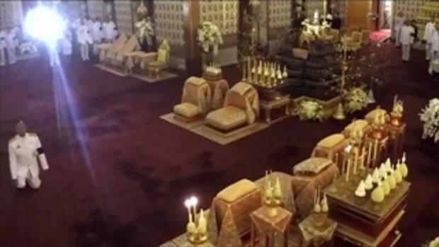 พสกนิกรตื้นตัน...สมเด็จพระเทพฯ ทรงกราบพระบรมศพรัชกาลที่ 9 แทบพื้น