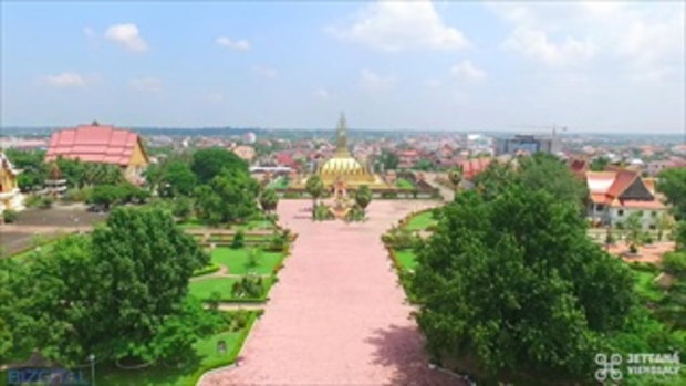 Overview Thatluang Stupa