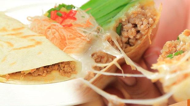 Sanook Good Stuff : สูตรพิซซ่าพัฟลาบหมูชีส