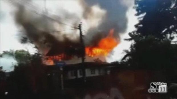 Sakorn News : ไฟไหม้บ้านเรือนประชาชน