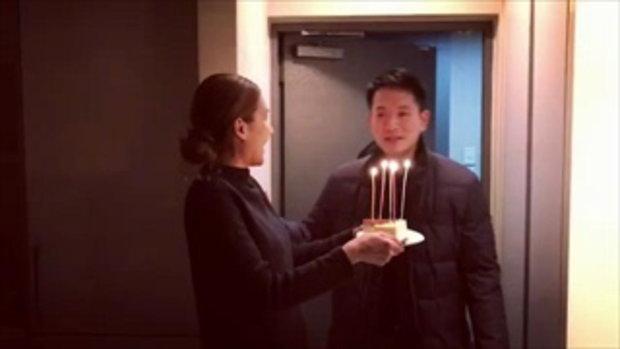 เนย โชติกา เซอร์ไพรส์วันเกิดสามีที่เกาหลี ง่ายๆ แต่หวานมาก