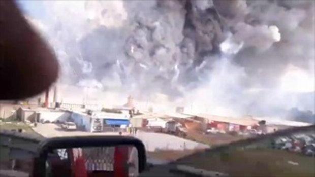 คลิปเผยนาทีดอกไม้ไฟมรณะระเบิดเผาตลาดพลุ เม็กซิโกตายเจ็บเกลื่อน