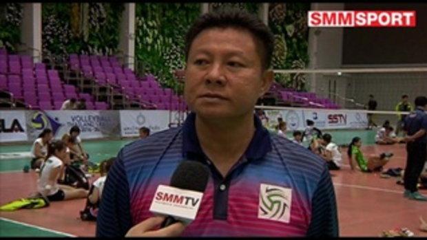 Volleyball Corner : สัมภาษณ์หลังเกมวอลเลย์บอลไทยแลนด์ลีกหญิง อาร์เอสยู - กรุงเทพ
