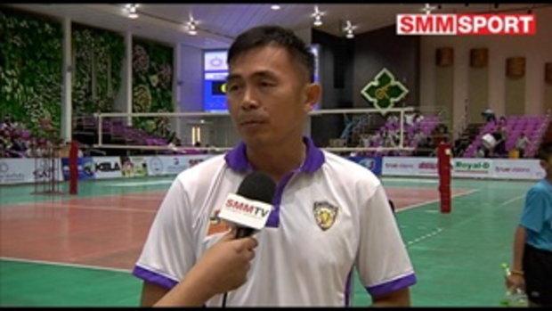 Volleyball Corner : สัมภาษณ์หลังเกมวอลเลย์บอลไทยแลนด์ลีกชาย เกษตรศาสตร์ - ราชบุรี